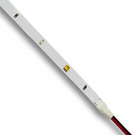 Muestra ampliada de la TIRA DE LED COVID-19, tira que emite luz UVC y destruye el ADN de los microorganismos unicelulares.