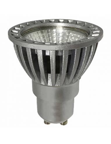 BOMBILLA DICROICA LED D-ECO COB 1X6W GU10 aluminio y cristal