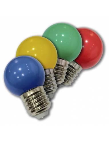 BOMBILLA DE COLORES LED de 1W, cuatro colores disponibles