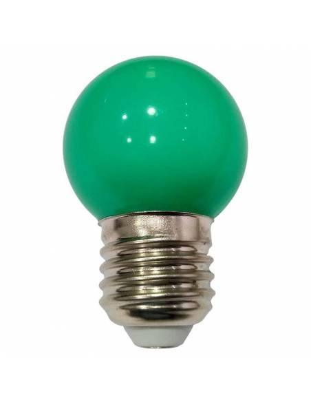 BOMBILLA LED VERDE de 1W, con casquillo de rosca E27