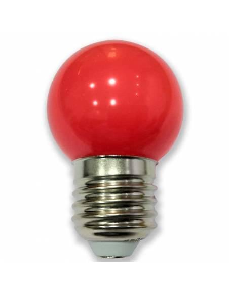 BOMBILLA LED ROJA de 1W, con casquillo de rosca E27