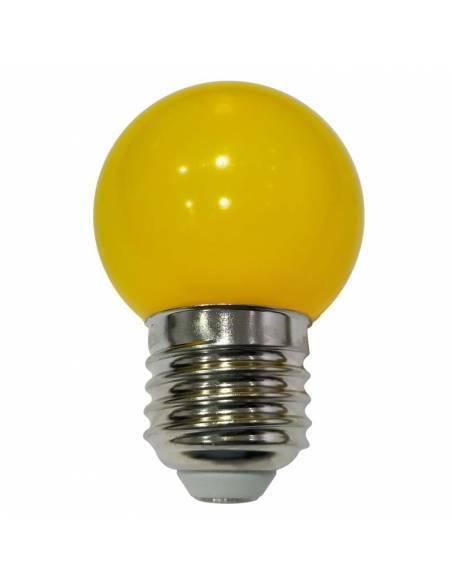 BOMBILLA LED AMARILLA de 1W, con casquillo de rosca E27