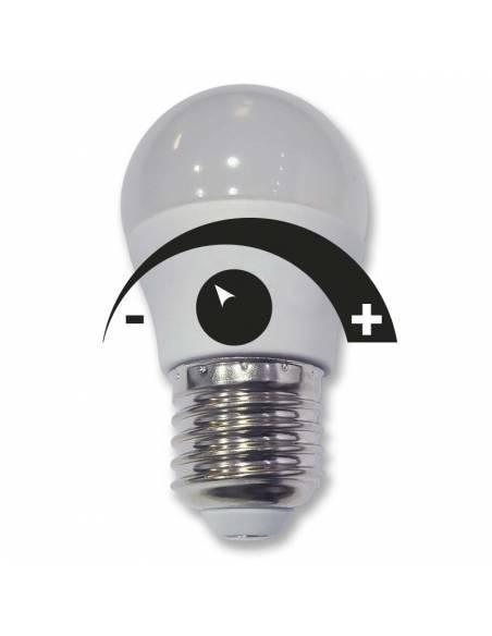 bombilla dimmable led de 6w y casquillo e27. bombilla regulable en intensidad de luz