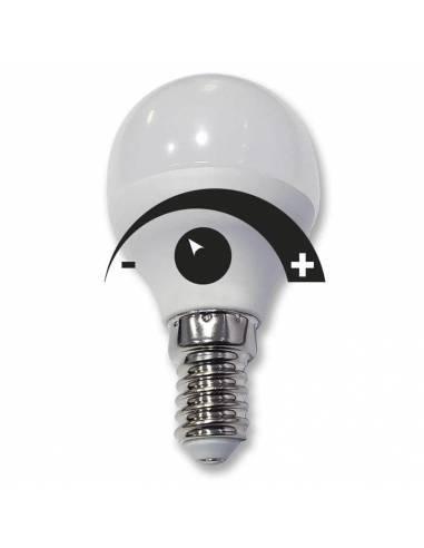 Bombilla dimmable led 6W y rosca E14. Bombilla regulable en intensidad de luz.