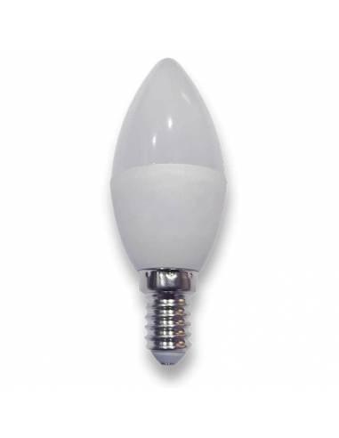 bombilla vela led E14 de potencia 6w. foto de led42.