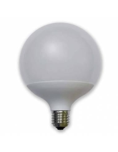 Bombilla globo led E27 de 20W. fabricada en pc. económica y eficiente.