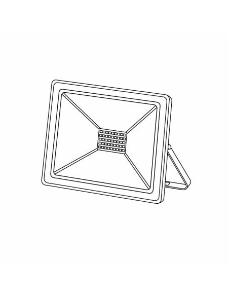Proyector led de 30W para exterior, Modelo ECO. Dibujo técnico