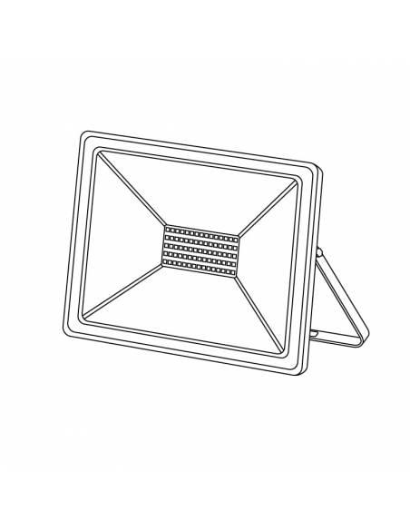 Proyector led de 50W para exterior, Modelo ECO. Dibujo técnico