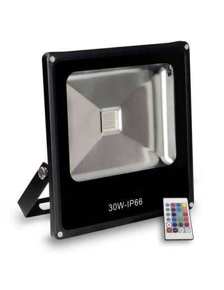 Proyector LED 50W de exterior, modelo FORK RGB