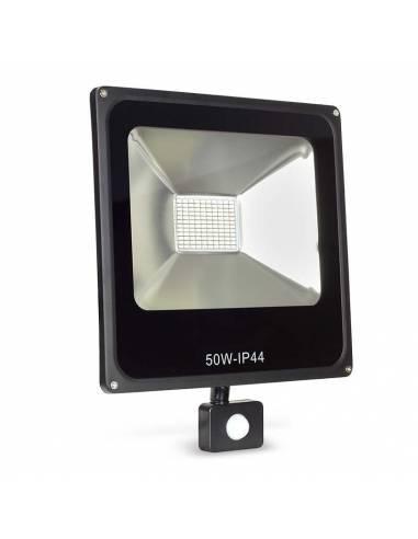 Proyector LED 50W de exterior, modelo FORK con SENSOR DE MOVIMIENTO.