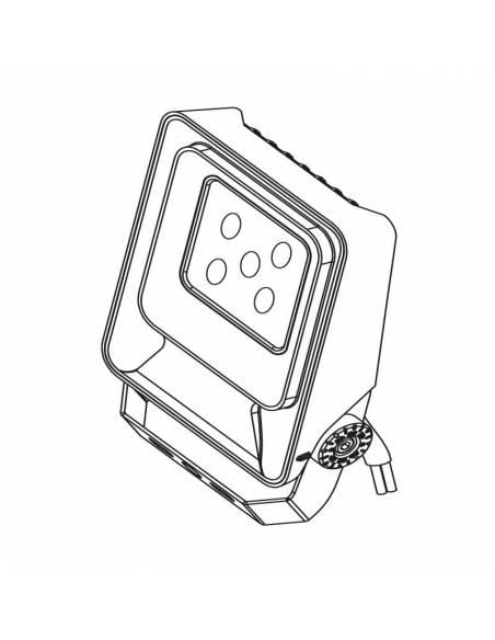 Proyector LED 10W de exterior, MÓNACO. Dibujo 3D