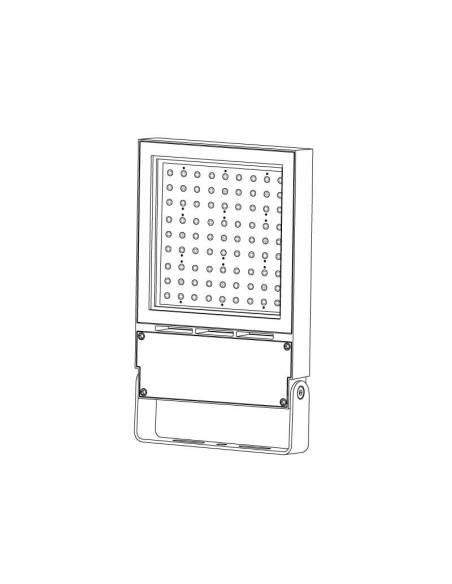 Proyector LED 50W de exterior, VIPER. Dibujo 3D