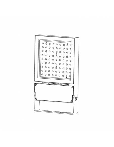 Proyector LED 80W de exterior, VIPER. Dibujo 3D