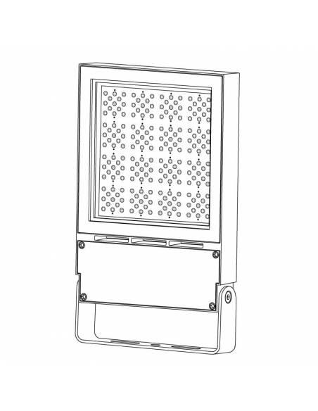 Proyector LED 150W de exterior, VIPER. Dibujo 3D