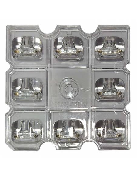 Lente asimétrica 150ºx75º para el PROYECTOR EXTERIOR LED, modelo VIPER 50W.