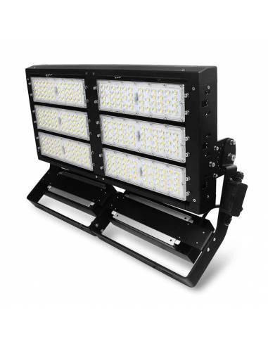 Proyector LED exterior 600W, modelo MILANO. Para grandes espacios, estadios de fútbol, campos de atletismo, aeropuertos.