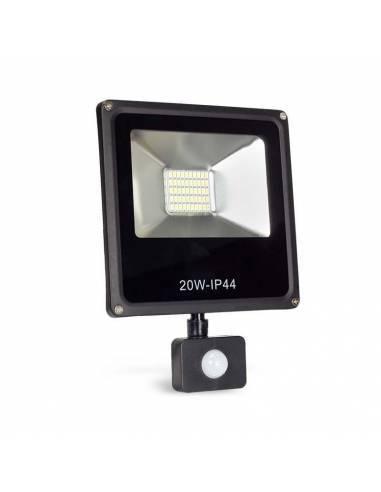 Proyector LED 20W de exterior, modelo FORK con SENSOR DE MOVIMIENTO.