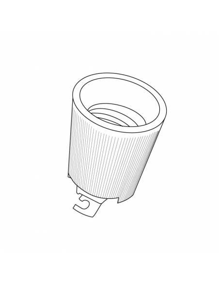 Portalámparas cerámico para bombillas con rosca E40 con soporte. Dibujo técnico