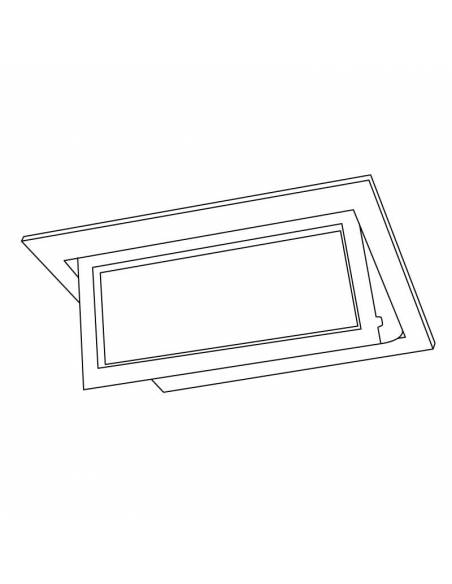 Foco empotrable de led modelo HALIDE LYON de 35W. Dibujo técnico.