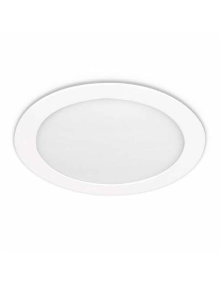 Downlight LED 18W, Slim redondo color blanco.