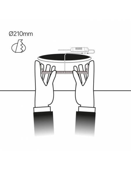 Downlight LED 18W, Slim redondo color blanco. Empotrable en techo