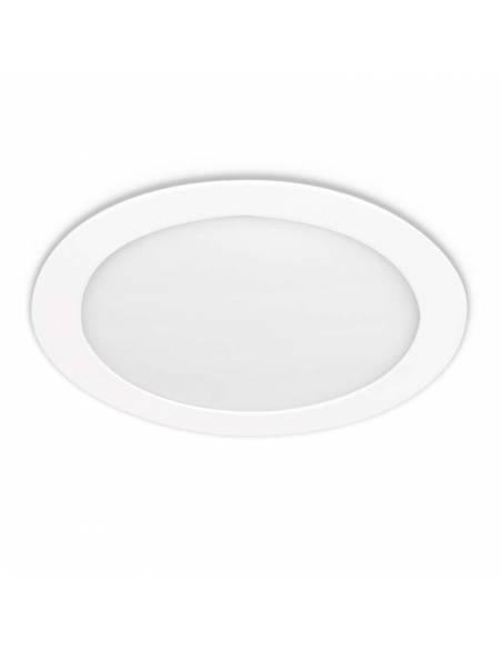 Downlight LED 20W, Slim redondo color blanco.