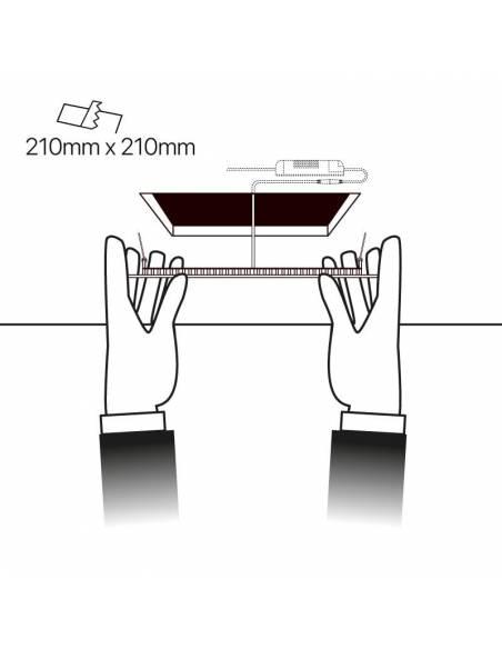 Downlight led 20W, modelo SLIM, cuadrado. Downlight led empotrable en techo