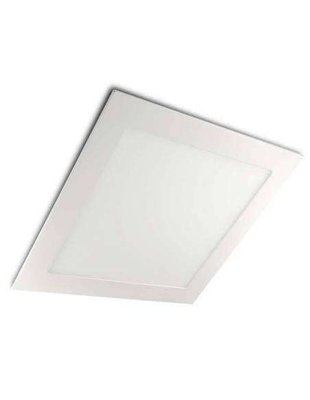Downlight led 20W, modelo SLIM, cuadrado color blanco.