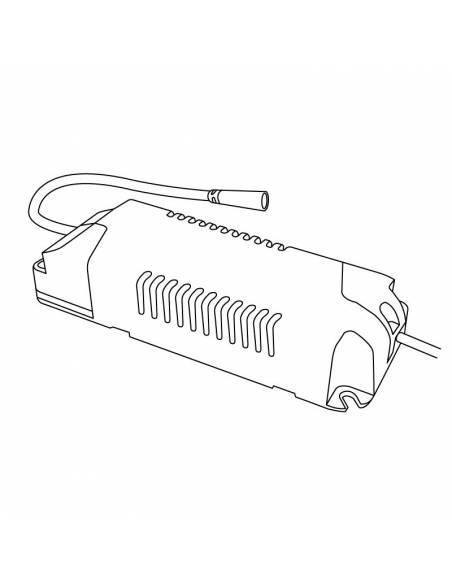 Driver LED dimmable para Downlight y plafones modelo slim de 20W a 24W. Dibujo técnico