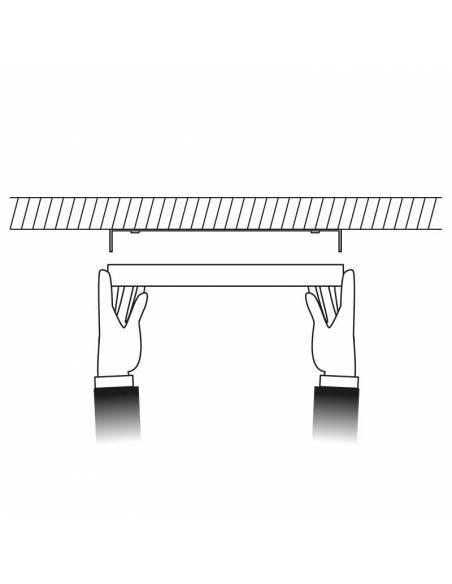 Plafón led, modelo SLIM, redondo de 36W dibujo de colocación.