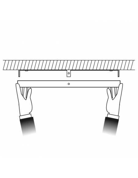 Plafón led, modelo SLIM, redondo de 48W, dibujo de colocación
