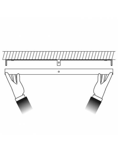 Plafón led, modelo SLIM, redondo de 56W, dibujo de instalación.