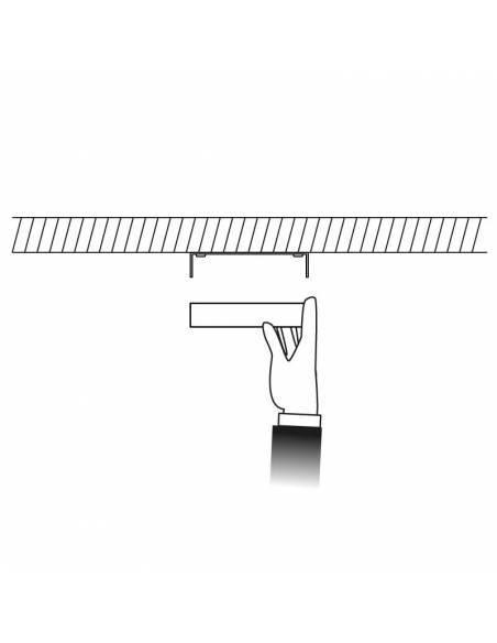 Plafón led, modelo SLIM de 12W, cuadrado, dibujo de colocación.