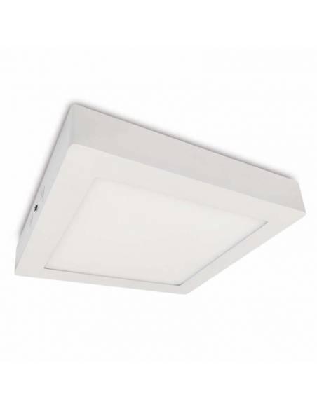 Plafón led, modelo SLIM, cuadrado, de 20W, color blanco