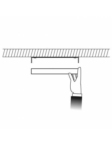 Plafón led, modelo SLIM, cuadrado, de 20W, dibujo colocación.