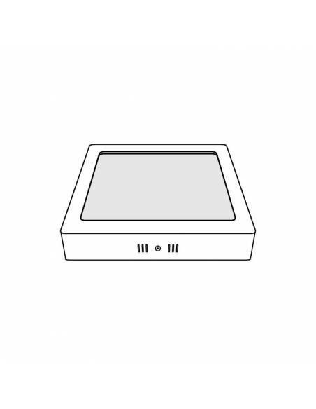 Plafón led, modelo SLIM, cuadrado, de 24W, dibujo técnico.
