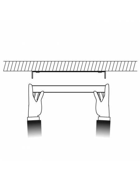 Plafón led, modelo SLIM, cuadrado, de 24W, dibujo de colocación.
