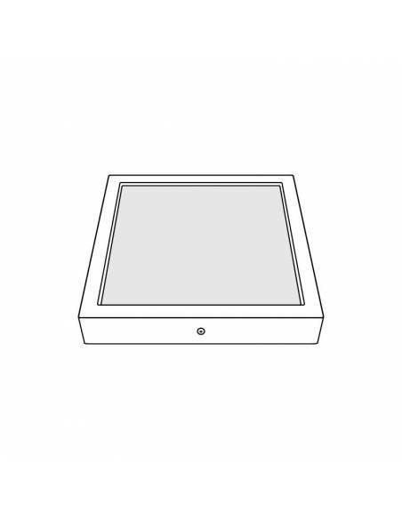 Plafón led, modelo SLIM, cuadrado, de 36W, dibujo técnico.
