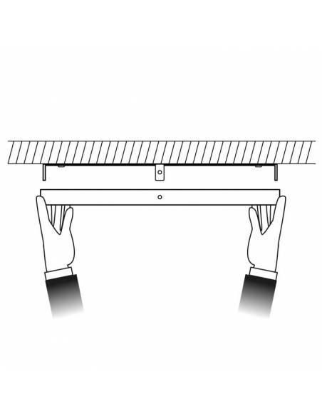 Plafón led, modelo SLIM, cuadrado, de 48W, dibujo de colocación.