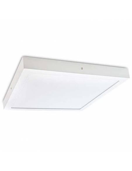Plafón led, modelo SLIM, cuadrado, de 56W, color blanco.
