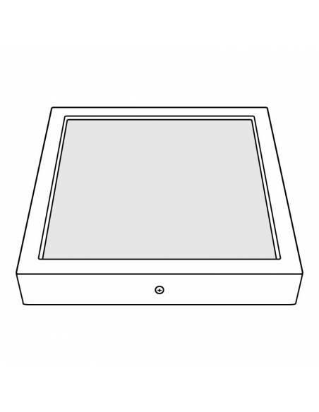 Plafón led, modelo SLIM, cuadrado, de 56W, dibujo técnico.