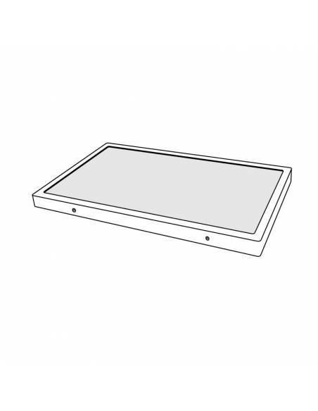 Plafón LED, modelo SLIM, rectangular, de 36W, dibujo técnico.