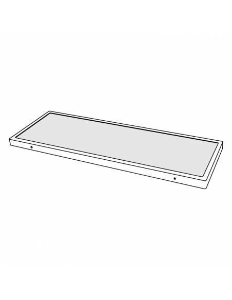 Plafón LED, modelo SLLIM, rectangular, de 56W, dibujo técnico.