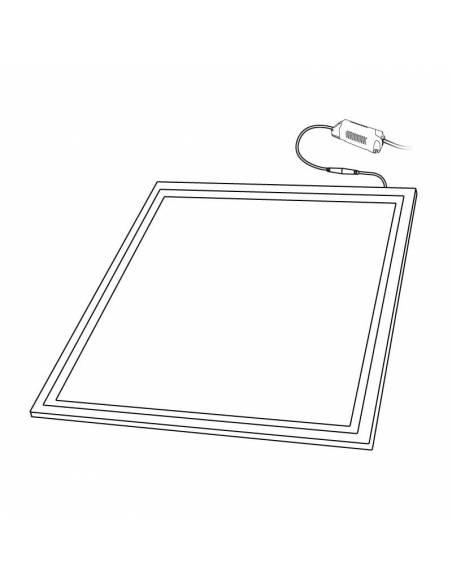 Panel led 60x60, ECO MODE de 40W, color blanco. Dibujo técnico.
