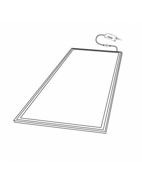 Panel LED, rectangular de 120 x 60 cms, de 80W, dibujo técnico.