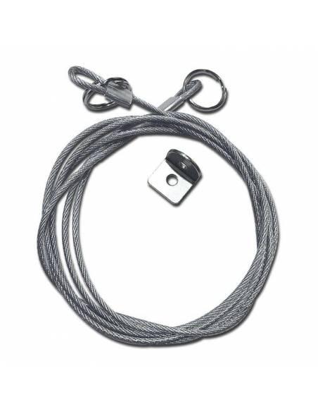 Cable de acero, kit de seguridad para paneles led empotrados.