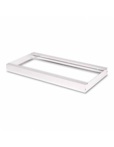 Marco 60 x 30 cms. para transformar el panel led a plafón led. Color blanco.