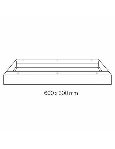 Marco 60 x 30 cms. para transformar el panel led a plafón led. Dibujo técnico
