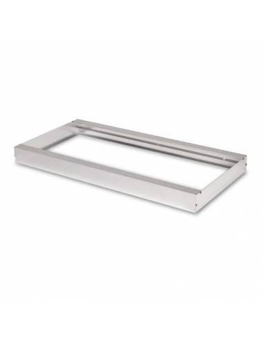 Marco 60 x 30 cms. para transformar el panel led a plafón led. Color aluminio.