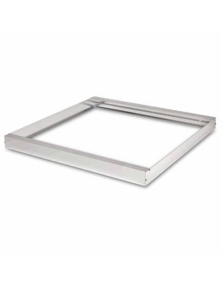 Marco de 60 x 60 cms. para transformar panel led en plafón led. Color gris aluminio.